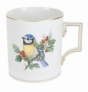 Keramik Bemalen Berlin : kaffeebecher form berlin vintage vogelmalerei motiv blaumeise goldrand v 0 25 l ~ Eleganceandgraceweddings.com Haus und Dekorationen