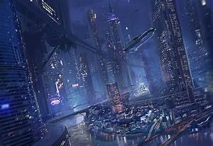 City Of the Night - Concept art, Sci-fiCoolvibe – Digital Art