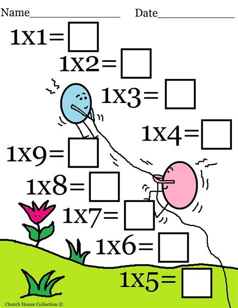 church house collection easter math worksheets for