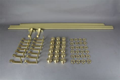 Brass Sidelight Curtain Rods by Installing Brass Curtain Rod The Homy Design
