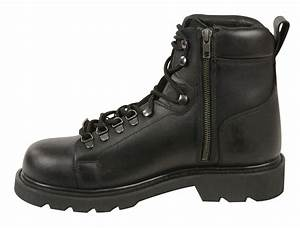 Men 39 S Motorbike Real Leather Lace To Toe Boot With Side