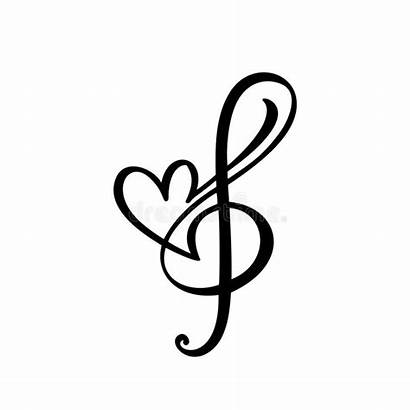 Heart Musical Piano Key Template Icon Abstract