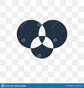 Venn Diagram Vector Icon Isolated On Transparent Background  Venn Diagram Transparency Concept