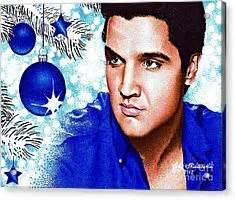 elvis blue christmas drawing  judy skaltsounis