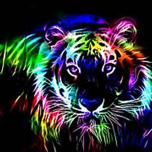 Luxury Cool Animals Wallpaper Neon Tiger