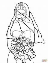 Groom Bride Coloring Printable Bouquet Drawing Barbie Clipart Skeleton Getdrawings Clip Sheets sketch template