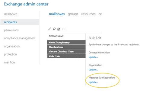 Office 365 Mail Attachment Size Limit by Users