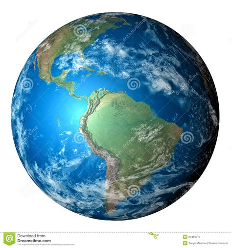photo realistic planet earth isolated  white royalty