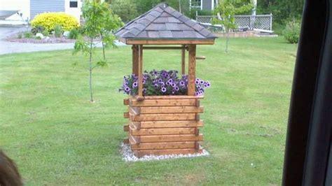 diy wishing  planter   garden woodworking