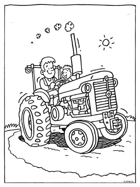 Kleurplaat Tractor Met Ploeg by Kleurplaat Tractor Kleurplaten Tractor Coloring Pages