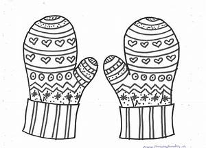 free winter coloring pages for preschoolers - free printable winter mittens mandala coloring pages for
