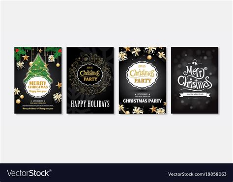 Merry christmas greeting card and party Royalty Free Vector