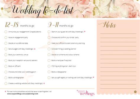 Get A Free Printable Wedding Planning Checklist Here