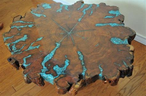 mesquite l with turquoise inlay mesquite table with turquoise inlay furniture