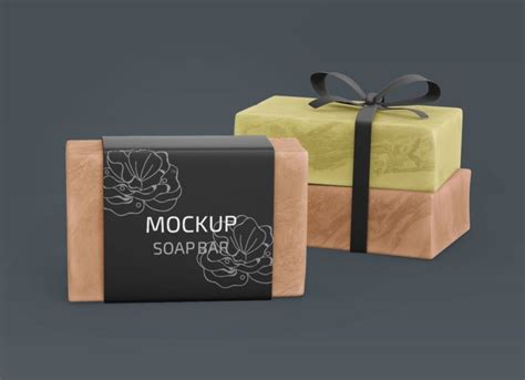 Discover 10 soap mockup designs on dribbble. Free Organic Homemade Soap Wrapper Mockup - Package ...
