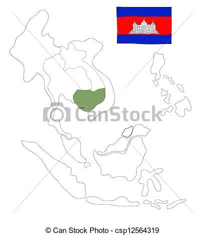 drawing map  south east asia countries