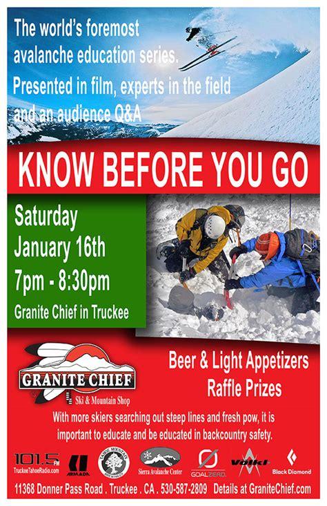 before you go avalanche presentation at granite chief