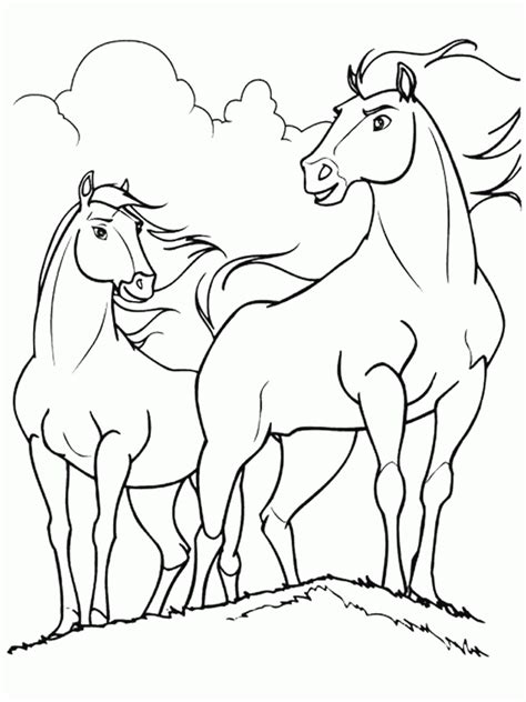 coloriage spirit cheval  animaux