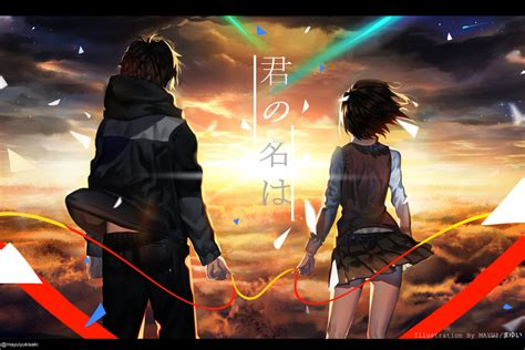 Anime Your Name Kimi No Na Wa Link 2016 Random Thoughts Kimi No Na Wa Your Name Image 2039901 Zerochan