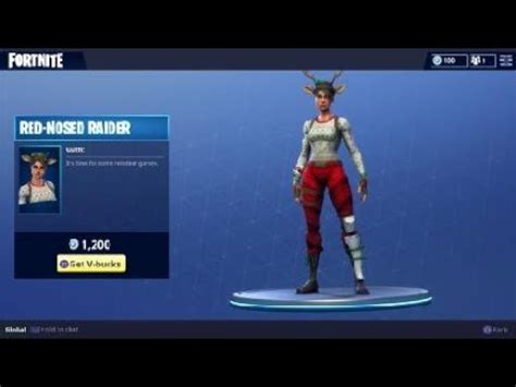 rare red nosed raider outfit reindeer character