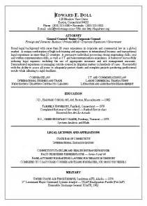 Lawyer Resume Template Lawyer Resume Exle