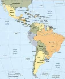 Latin America Countries Map