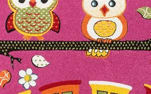 Tapis Enfant Pas Cher : tapis rose creme pour chambre enfant rose hibou pas cher ~ Dailycaller-alerts.com Idées de Décoration