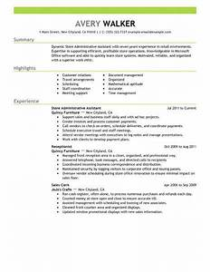Best Store Administrative Assistant Resume Example From