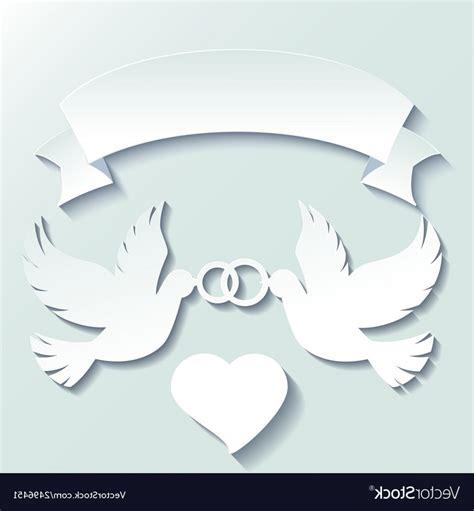 doves holding wedding rings vector shopatcloth