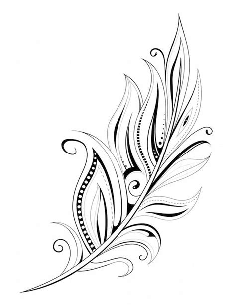 Arrow Feather Drawing at GetDrawings.com | Free for personal use Arrow Feather Drawing of your