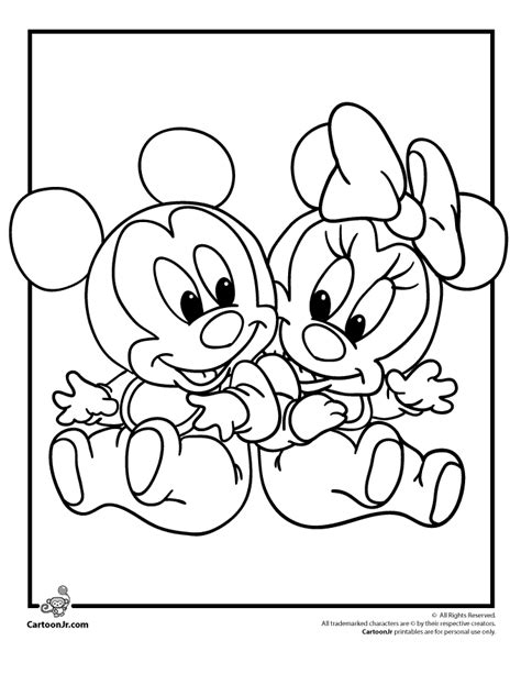 baby disney coloring pages    print