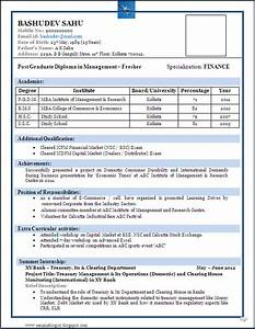 sample of a beautiful resume format of mba fresher With cv format for freshers