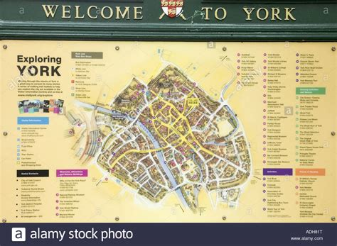 york map uk stock photo  alamy