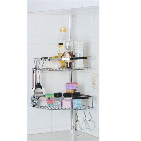 inox cuisine étagère de cuisine télescopique inox 2 paniers 6 crochets