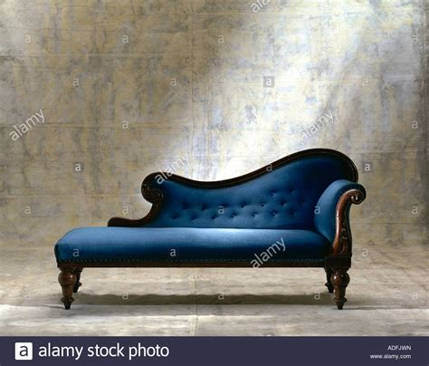 Chaise Longue Images by Blue Chaise Longue Sofa On Canvas Background Stock Photo