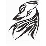 Wolf Tribal Tattoo Tattoos Designs Abstract Simple