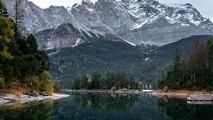 Download, Wallpaper, 1920x1080, Lake, Trees, Mountains, Water