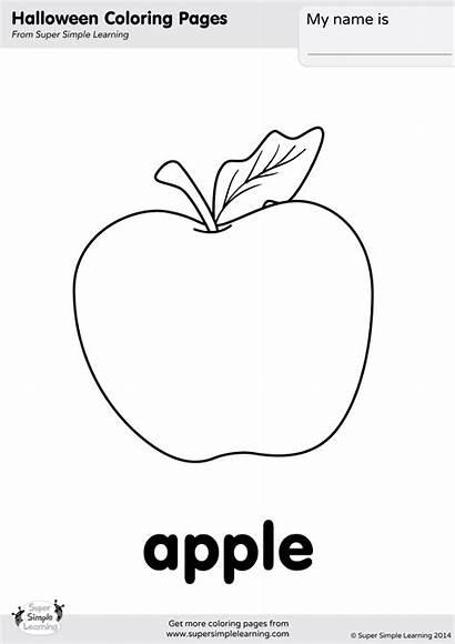 Coloring Simple Apple Supersimple Sketch
