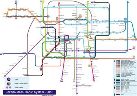 jakarta subway map travelquazcom