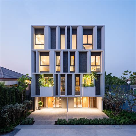 Garden Apartment Vs Townhouse by Townhouse With Garden Baan Puripuri Archdaily