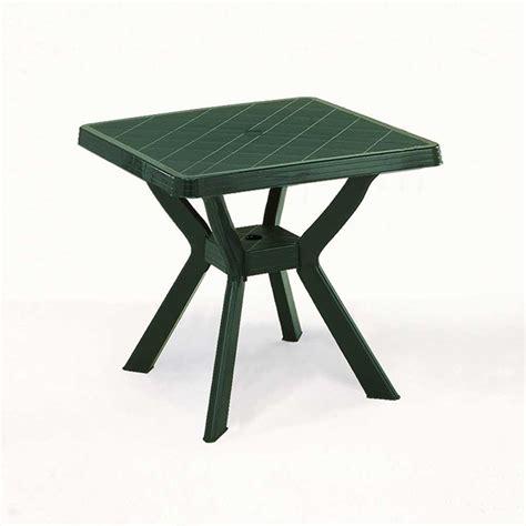 tavolo da giardino plastica tavolo plastica nilo verde 80x80 mondobrico arredo giardino