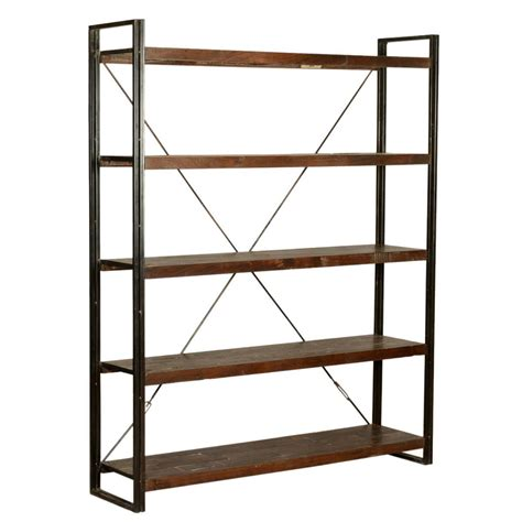 Iron Bookcases by Industrial Library 79 Quot Wood Iron Wall