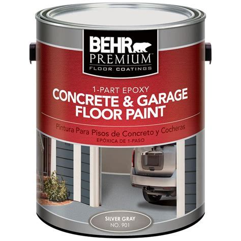 BEHR Premium 1 gal. #901 Silver Gray 1 Part Epoxy Concrete