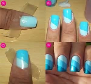 Diy nail art ideas using scotch tape and
