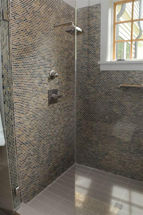 master bathroom shower floor mosaic detail showers breitzke carpentry