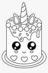 Coloring Cake Unicorn Cartoons Transparent Pngitem sketch template