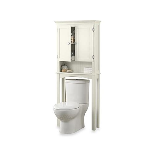 Bathroom Cabinets Bed Bath And Beyond by Fairmont Free Standing Space Saver Cabinet In White Bed