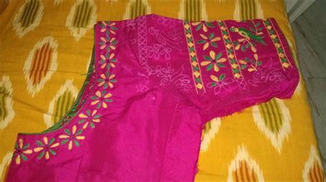 simple blous neck designs  silk sarees fashion beauty