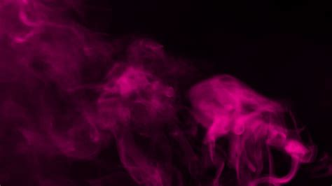 Black And Pink Background Pink Smoke On Black Background Stock Footage