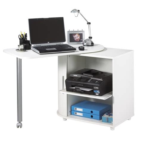 bureau gain de place pas cher bureau informatique blanc pivotant beaux meubles pas chers